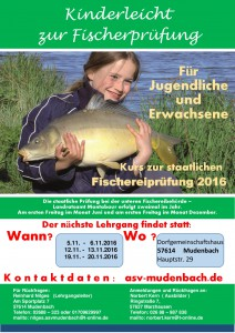 ASV 2016 Plakat Fischerprüfung